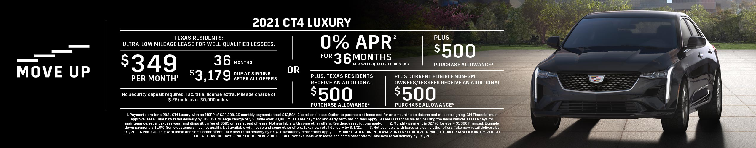2021 CT4 Luxury: Lease or APR Offer (Image) - cb3536